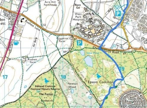 Chessington to Ashtead, Route Map Part 2