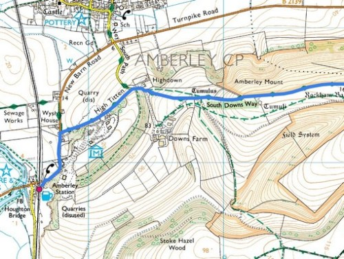 Goring to Amberley; Route Map Part 8