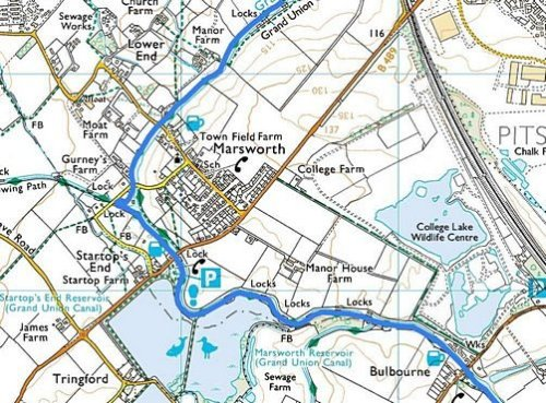 Tring to Cheddington; Route Map Part 2