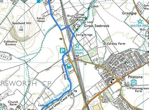 Tring to Cheddington; Route Map Part 3