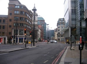 Bishopsgate: looking north without the City