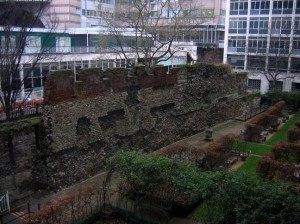 London Wall at St Alphege