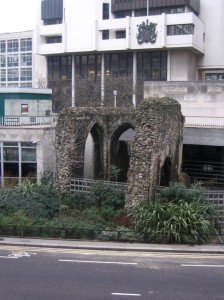 The remaining structure of the Priory of St Mary-Within-Cripplegate