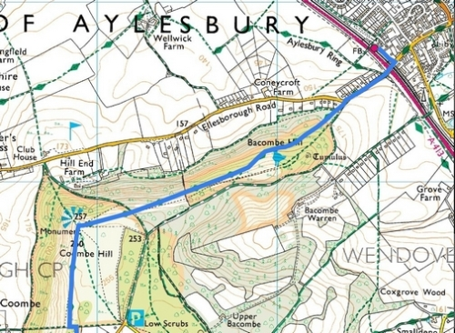 Saunderton to Wendover; Route Map Part 7