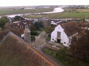 The view from the tower of St Mary the Virgin Church, Rye