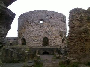 The crumbling keep of Camber Castle