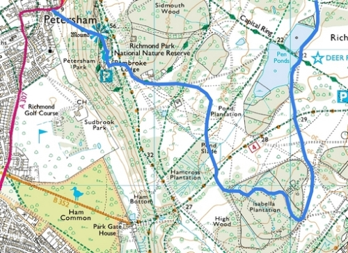 Richmond Park; Route Map Part 1