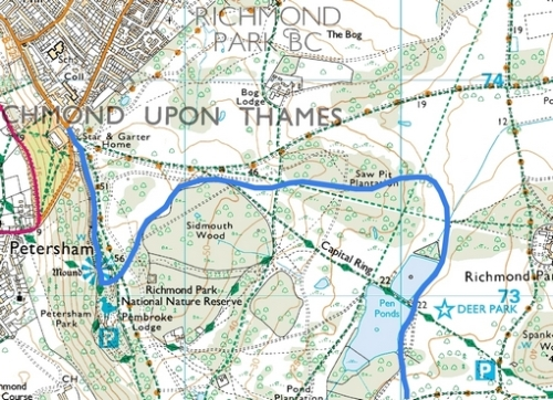Richmond Park; Route Map Part 2